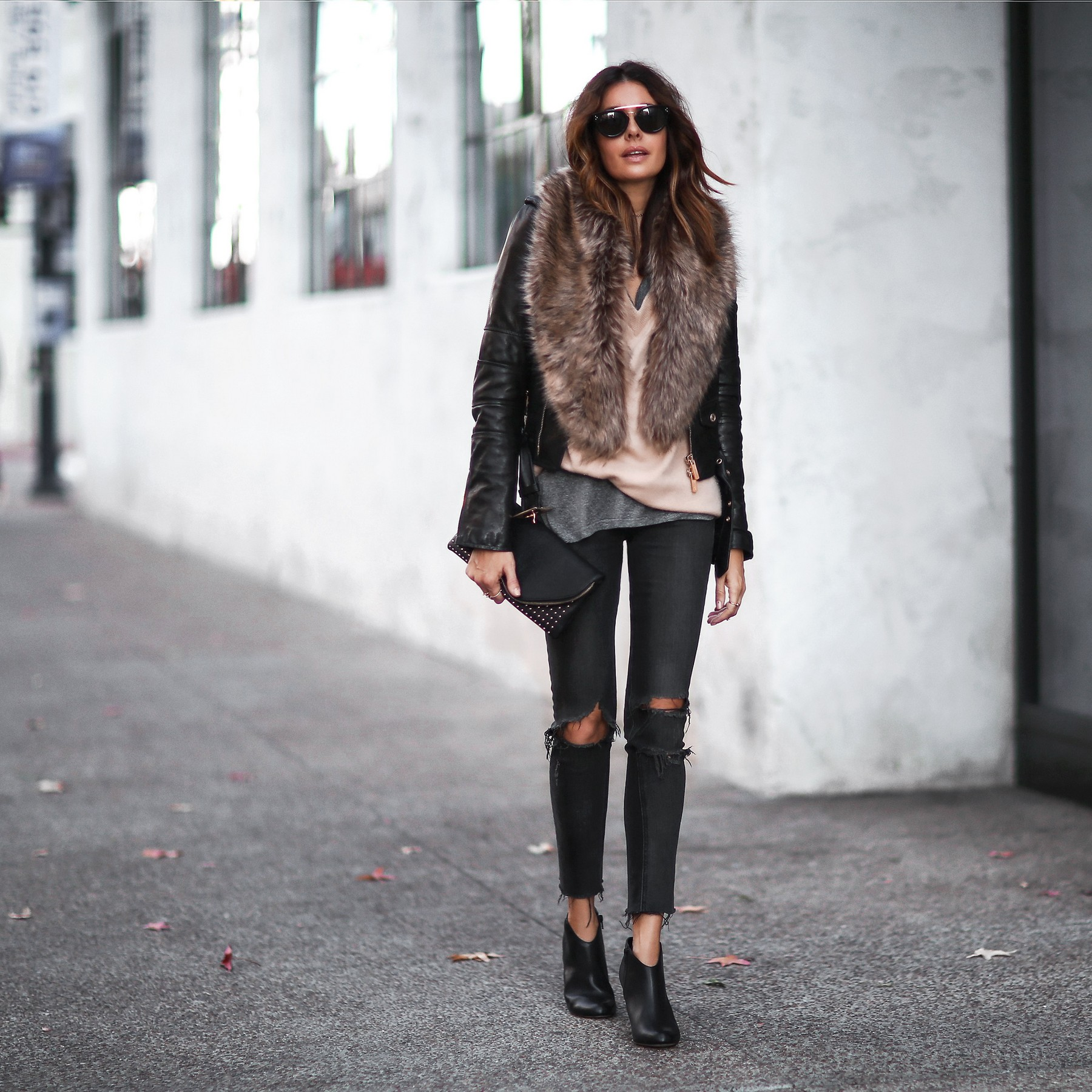 how to style fur and leather