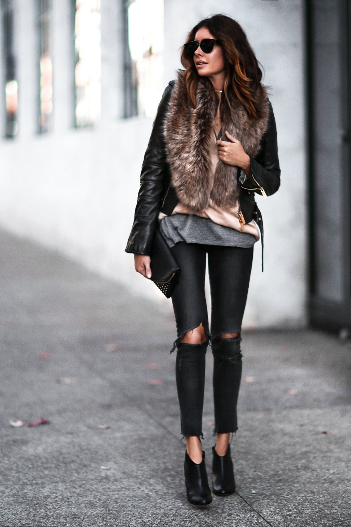 how to style fur stole