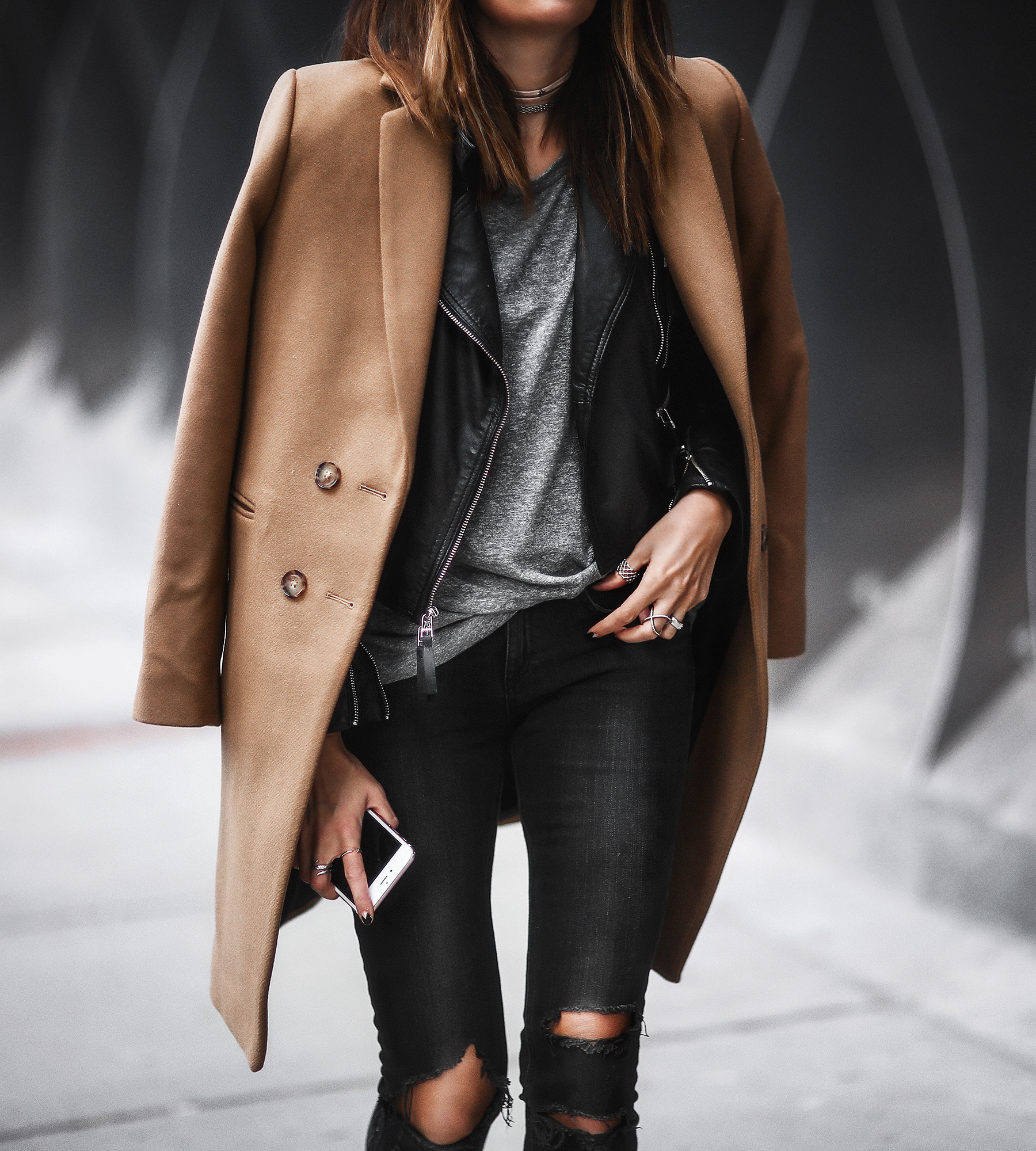 layering leather