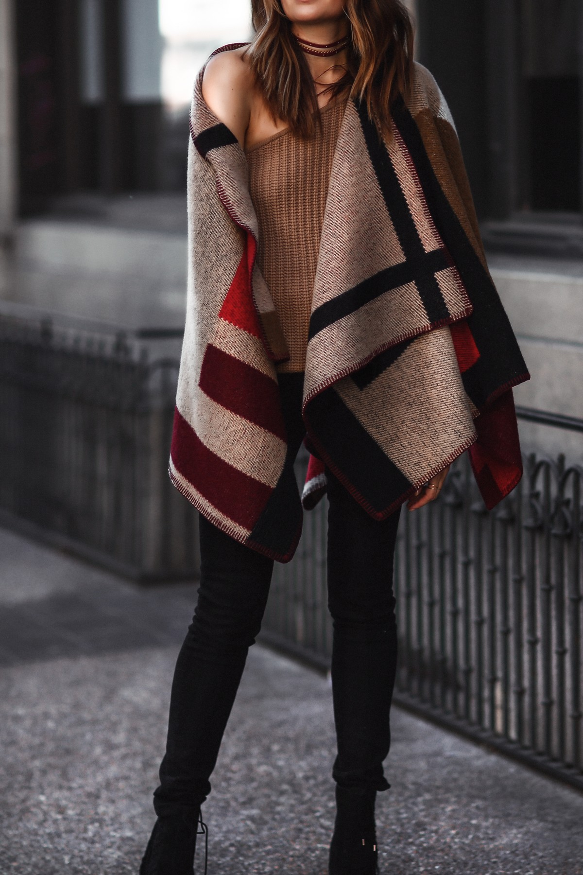layering with a cape