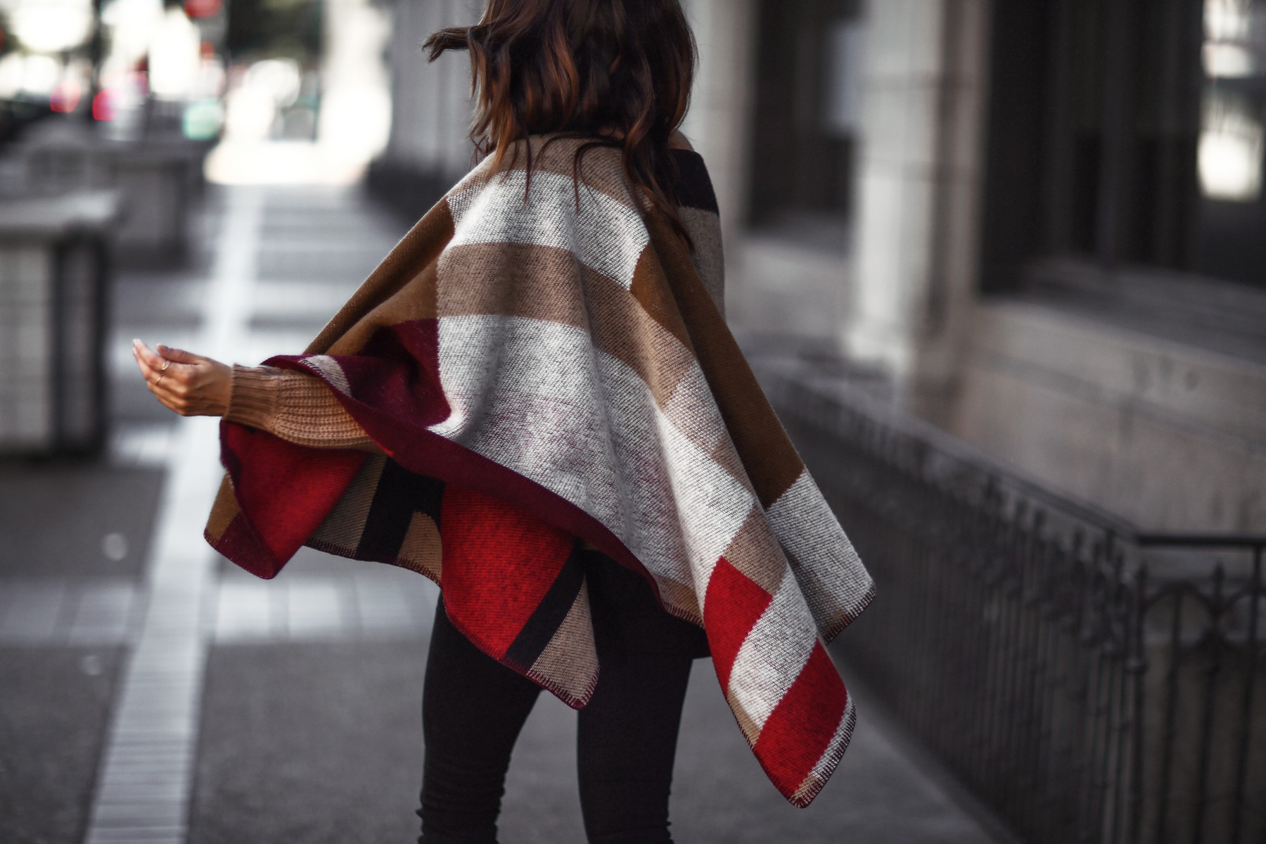 winter burberry cape