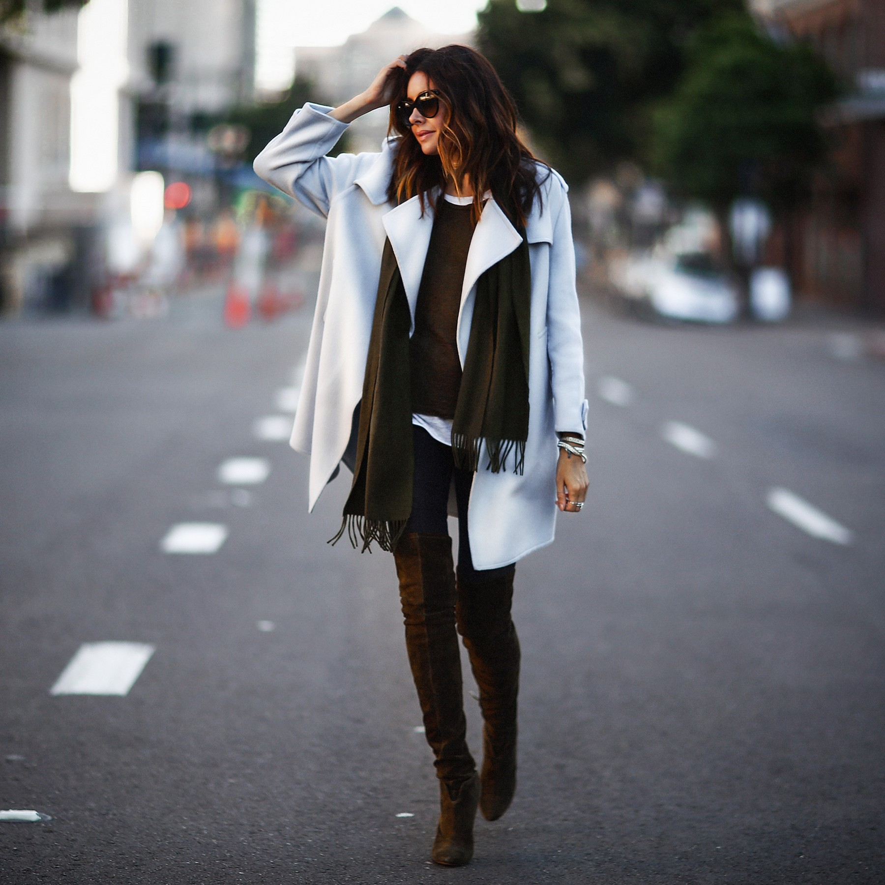 how to style a wrap coat