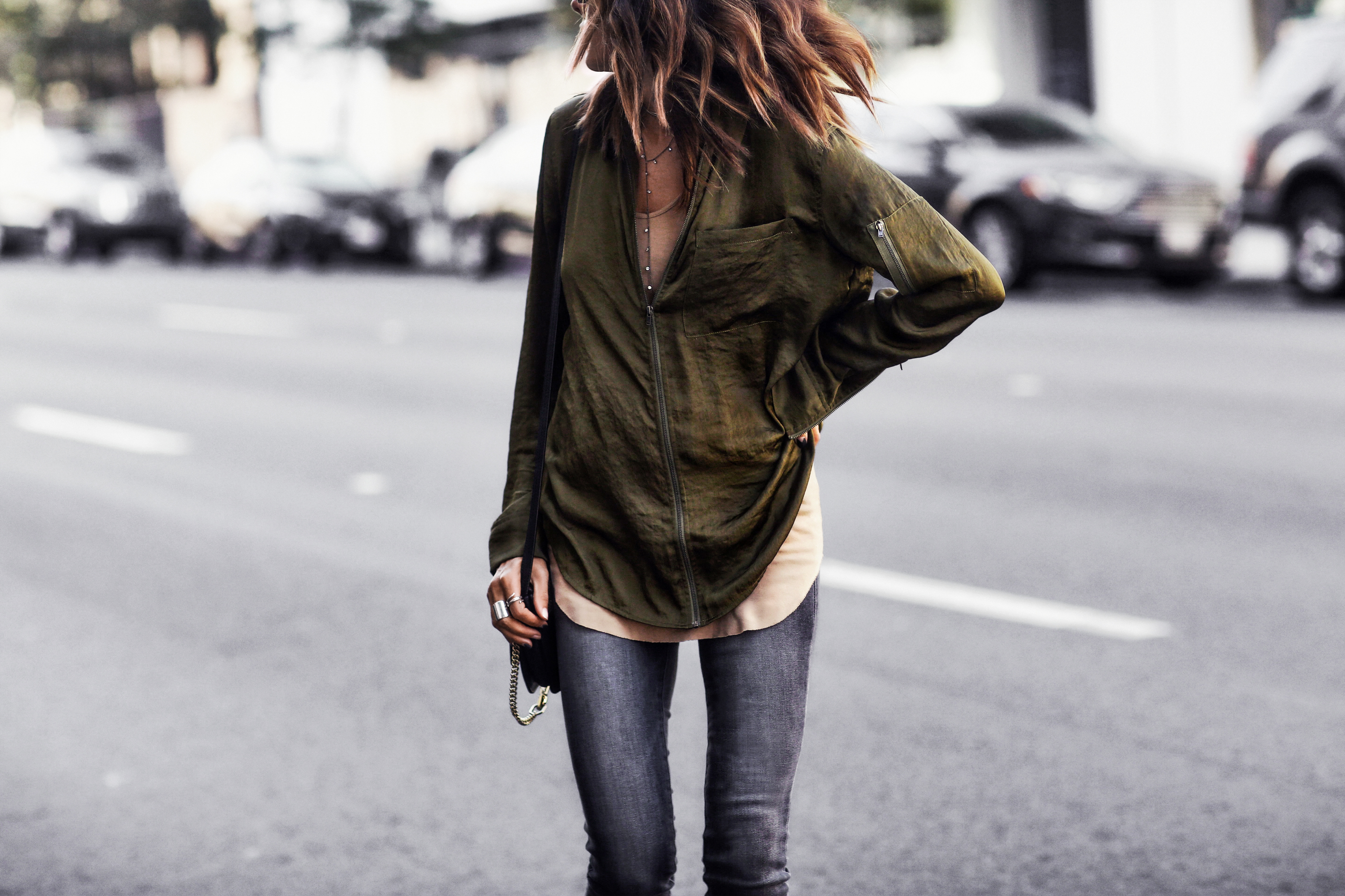 how to style bomber shirt, fall colors